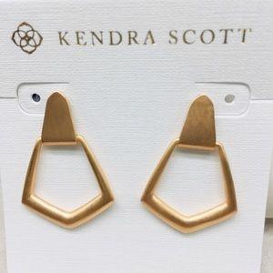 Kendra Scott Paxton Gold tone studs earrings